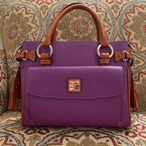 Dooney & Bourke pocket satchel in violet